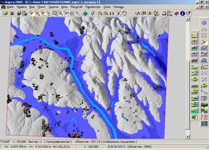 Моделирование зон затопления