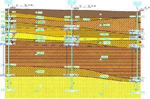 Построение геологических разрезов в виде схемы