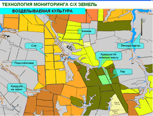 Карта АИС агропромышленной компании